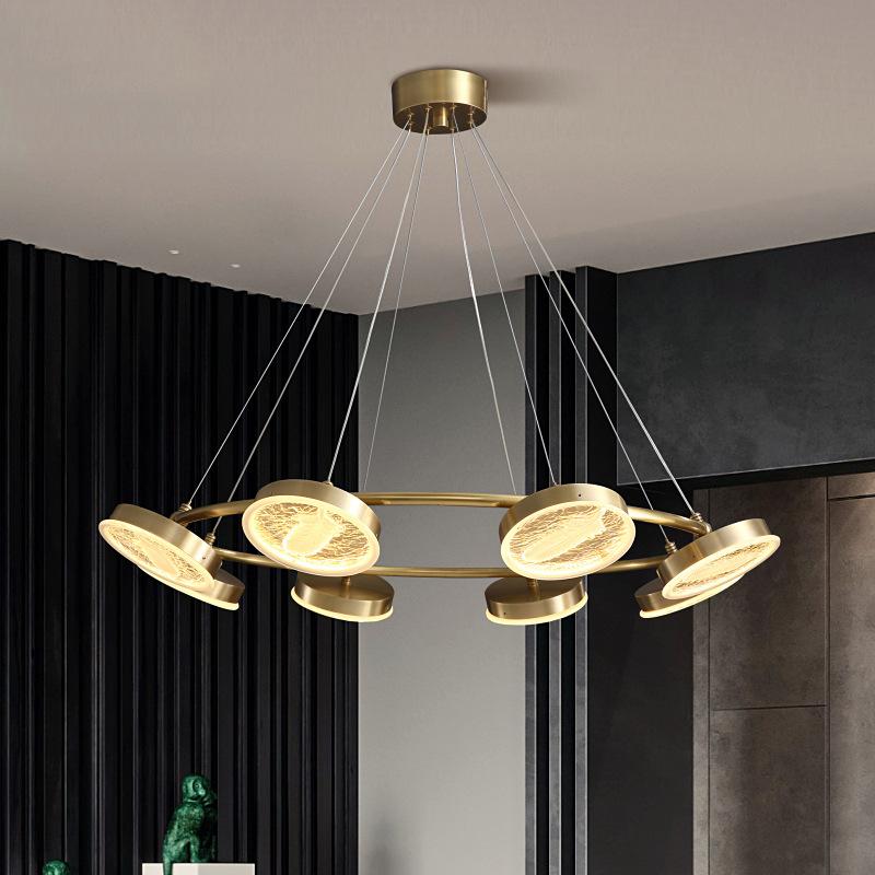 客厅全铜吊灯现代轻奢北欧灯饰餐厅灯卧室大气简约创意后现代灯具