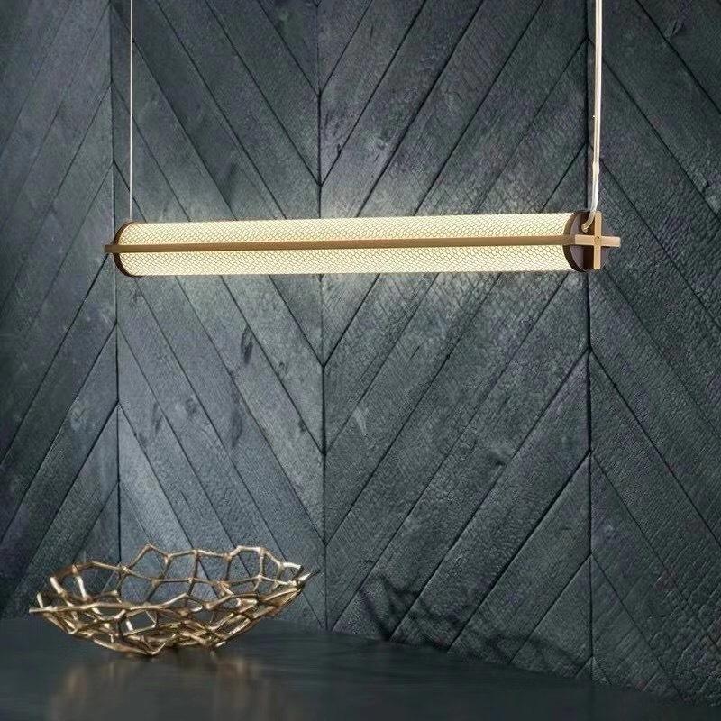 轻奢长条吊灯 现代简约酒店客厅卧室餐厅创意北欧玻璃LED灯饰灯具