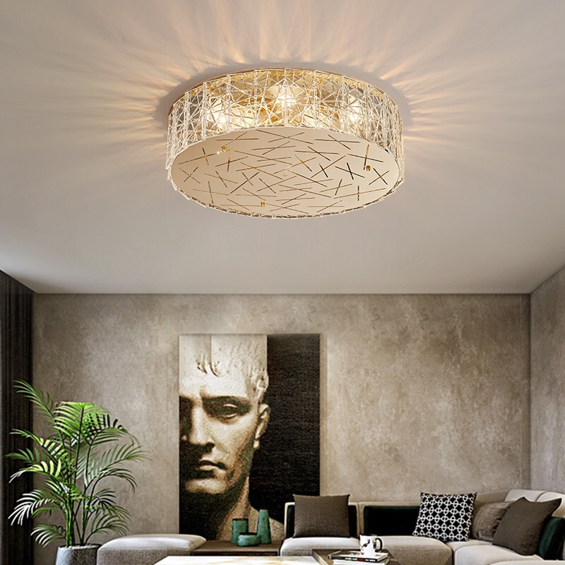 后现代客厅过道吸顶灯 创意简约餐厅书房LED灯酒店卧室轻奢全铜灯