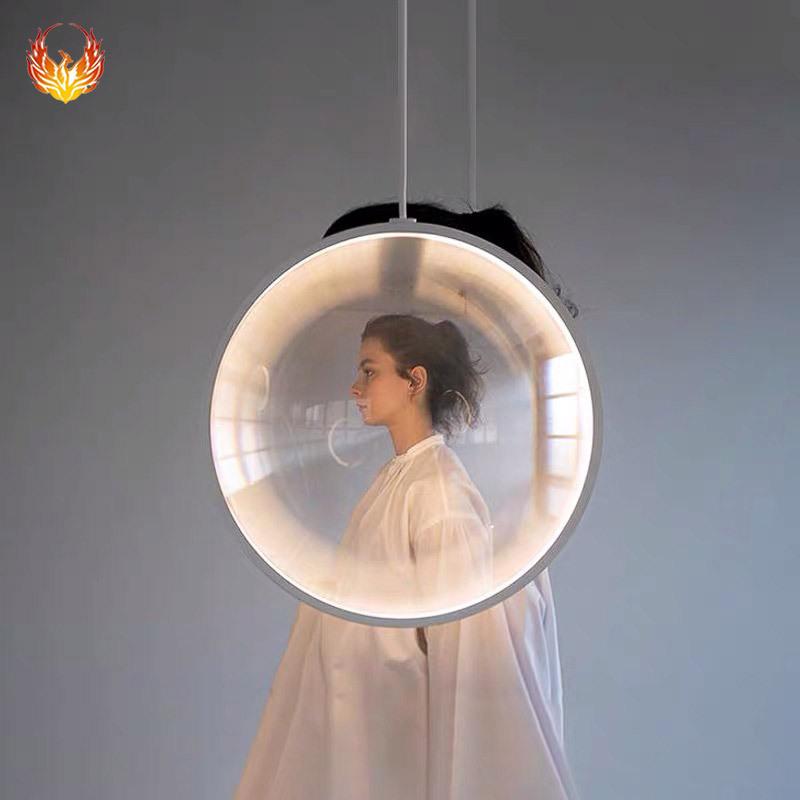 北欧餐厅吊灯 现代简约单头卧室床头个性创意咖啡厅吧台装饰LED灯