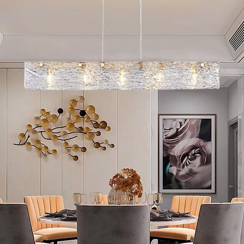 后现代餐厅吊灯 设计师个性创意吧台玻璃灯简约客厅卧室轻奢LED灯