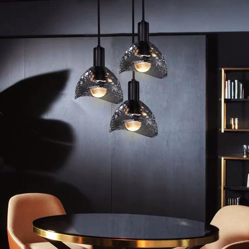 简约全铜卧室床头单头水晶小吊灯设计师创意个性餐厅吧台轻奢吊灯