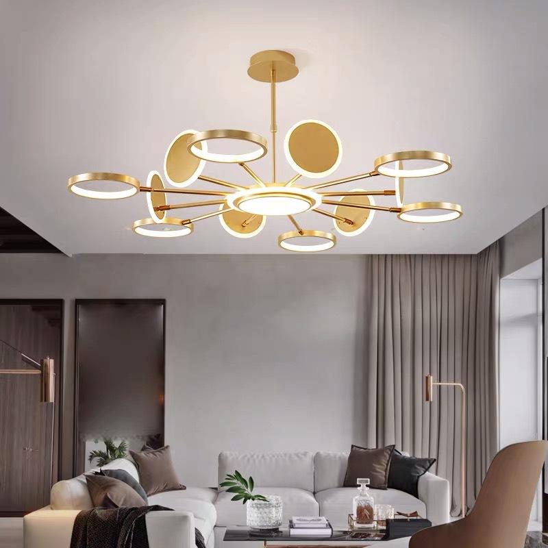 客厅吊灯 简约现代大气创意餐厅卧室灯饰北欧书房轻奢分子led灯具