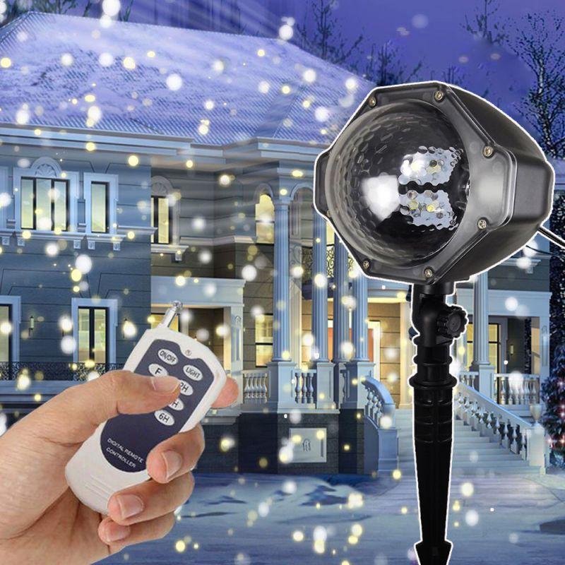 供应LED下雪灯 雪花灯 户外防水草坪投射灯 2019亚马逊热卖