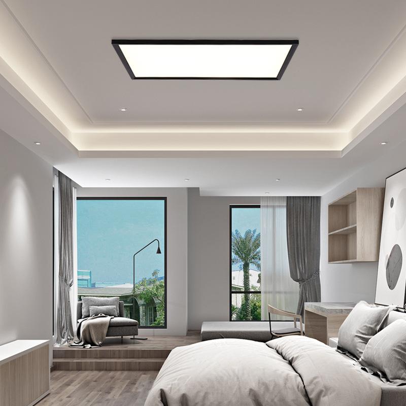 客厅灯led吸顶灯现在简约大气家用长方形超薄卧室灯房间北欧灯具