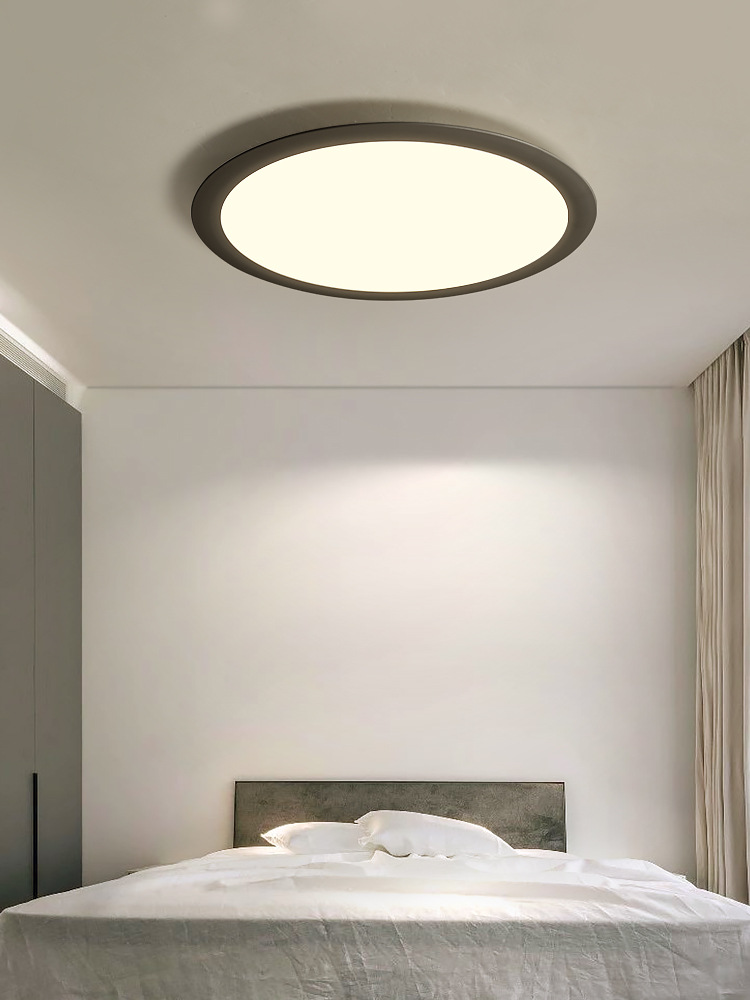 新款现代极简风格LED灯吸顶灯北欧圆形客厅灯卧室餐厅书房ins