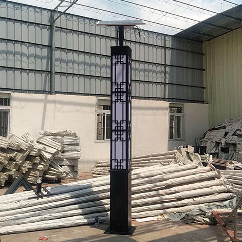 厂家生产3米太阳能景观灯定制3.5米广场led庭院灯4米园林方形路灯