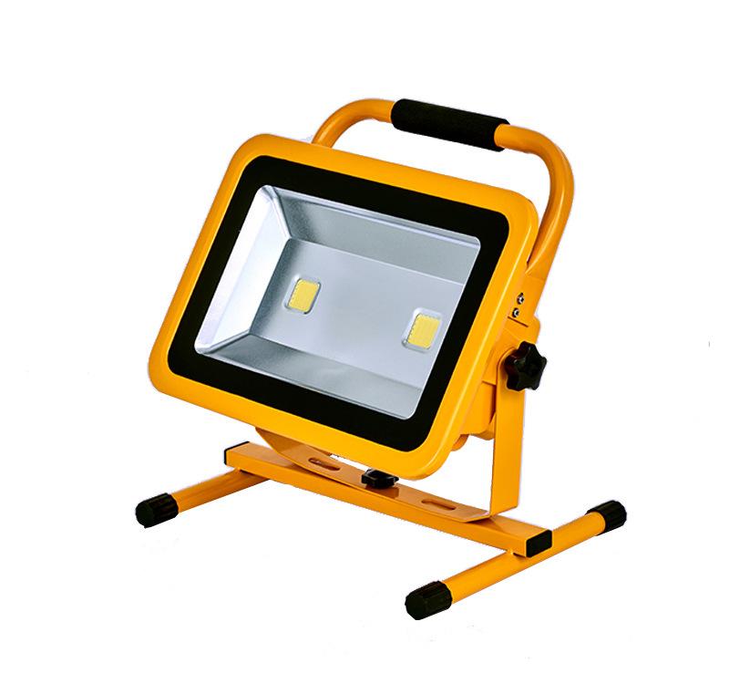 led充电投光灯厂家户外投射灯防水便携式工作灯移动应急探照灯