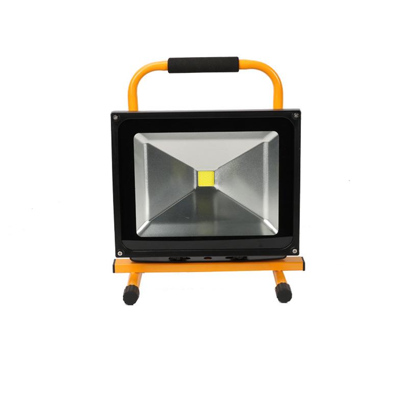 50W应急投光灯led充电投光灯施工救灾应急配车充直充可任意调角度