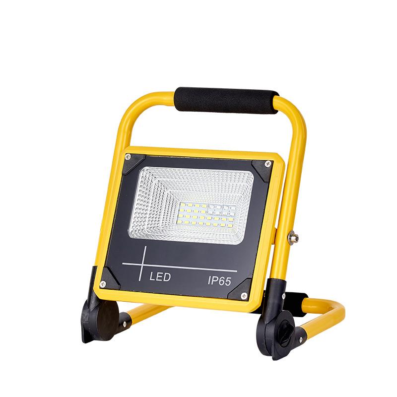 泛光灯移动充电便携手提灯红蓝闪光警示灯50W充电投光灯